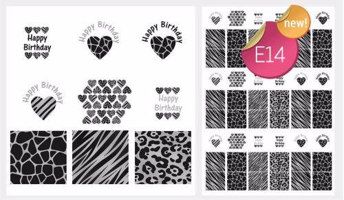 PRE-ORDER Sugar Stamp Sheet - E14
