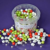 Edibles Mix - Christmas Snowflake (7mm) 80g