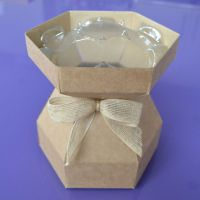 Cupcake Bouquet Box - Natural Kraft with Hessian Bow