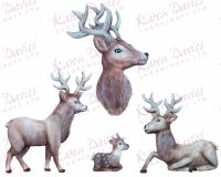 Karen Davies Rustic Stag by Alice Mould