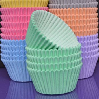 Cupcake Cases - Pastel Mint Green