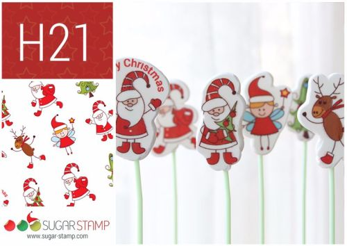 Sugar Stamp Sheet - Christmas H21 Large Figures