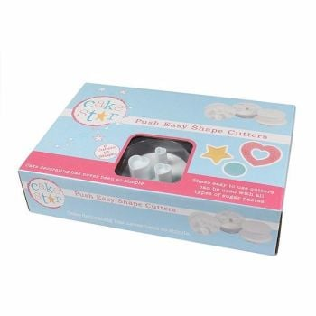 Cake Star Push Easy Cutters - Shapes 6 Piece