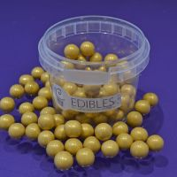 Large Sugar Pearls 10mm - Pearl Gold