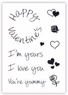 impressit™ Valentine's Day, I'm Yours, I Love You (A7)
