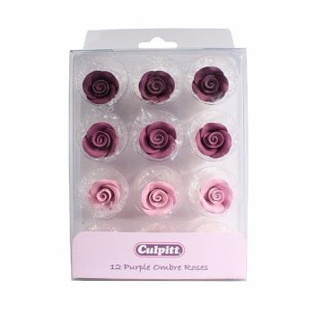 Sugar Flowers - Rose 20mm (12 Pieces) - Purple Ombre