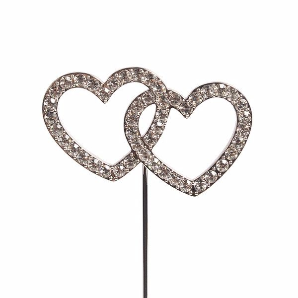 Diamante Pick - Double Heart