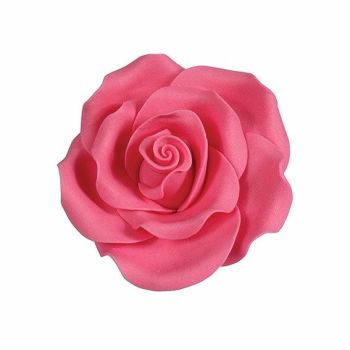 Sugar Flowers - Rose 38mm (1 Flower) - Pink