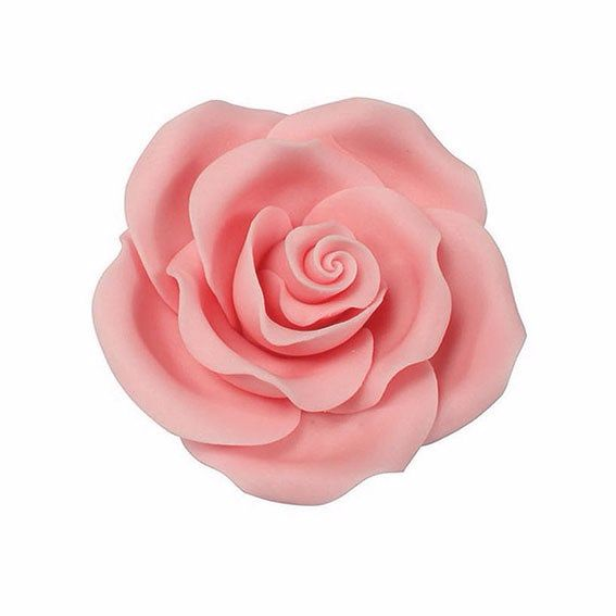 Sugar Flowers - Rose 38mm (1 Flower) - Pale Pink