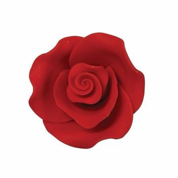 Sugar Flowers - Rose 38mm (1 Flower) - Red