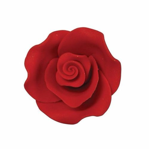 Sugar Flowers - Rose 38mm (5 Flowers) - Red