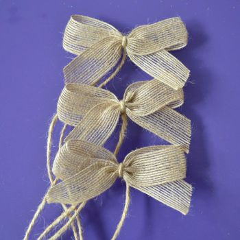 Hessian Bows x 3