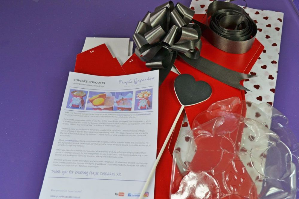 Cupcake Bouquet Box - Valentines's Day Kit 4