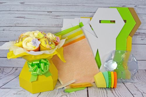Cupcake bouquet boxes ribbons bows accessories cupcake bouquet box easter kit negle Images