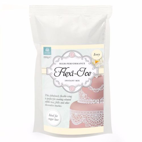 Squires Kitchen Flexi-Ice Instant Mix for Sugar Lace - Ivory 250g