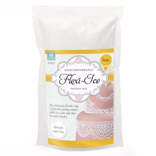 Squires Kitchen Flexi-Ice Instant Mix for Sugar Lace - Gold 150g