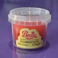 Flower Paste - Orange Burnt 100g