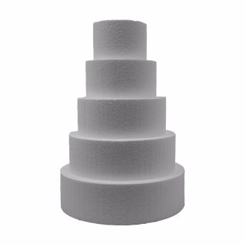 "5"" Tall 9"" Round Straight Edge Cake Dummies"