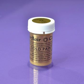 Edible Paint by Sugarflair 20g - Gold