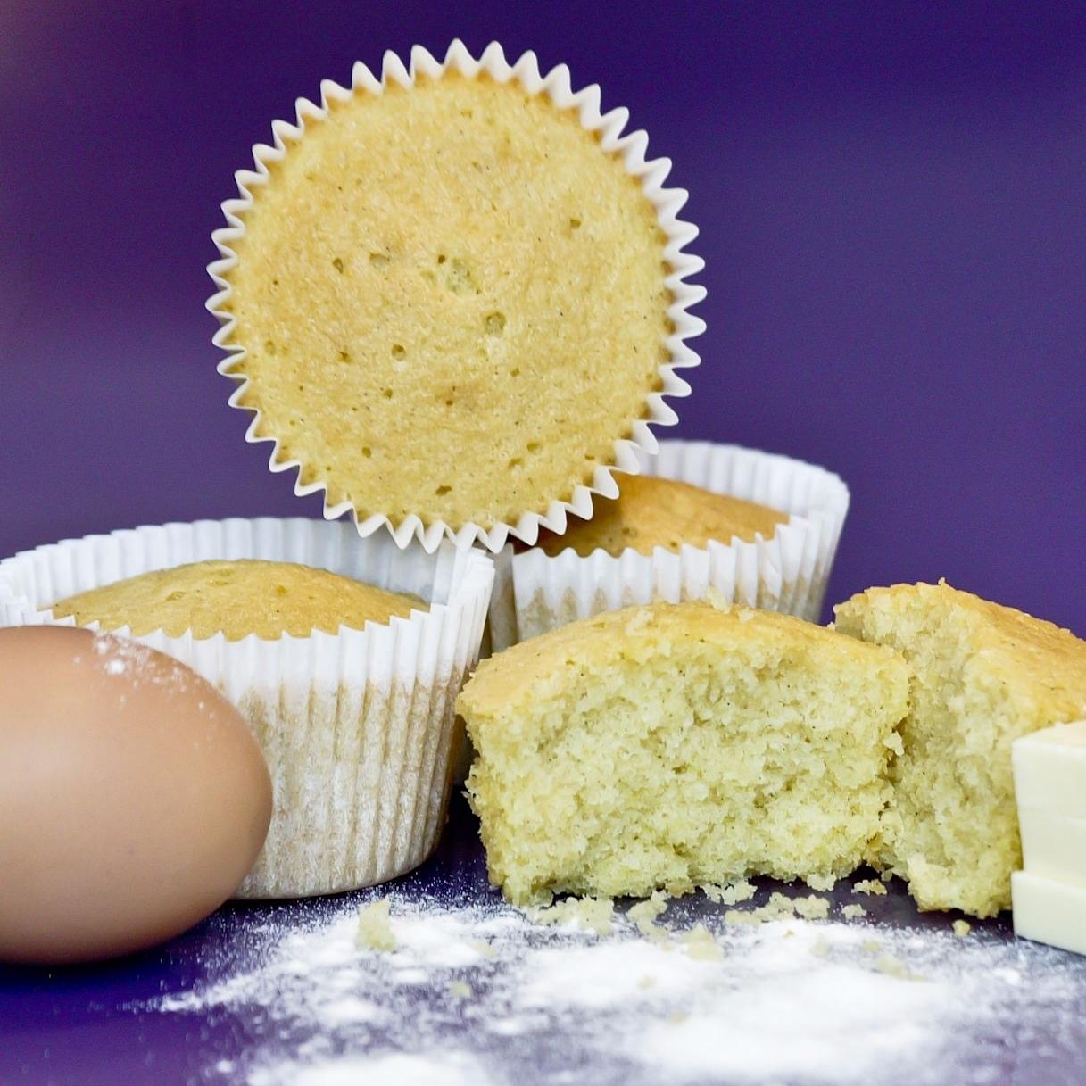 Un-decorated Vanilla Cupcake