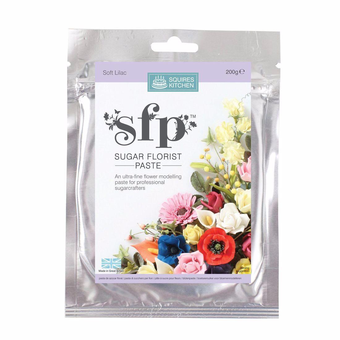 Florist Paste Squires  200g SOFT LILAC