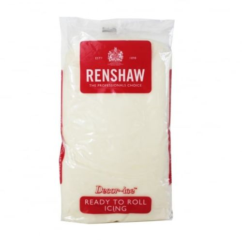 Sugarpaste 1kg Celebration Cream - Renshaw Decor Ice Ready to Roll (BBE Jan