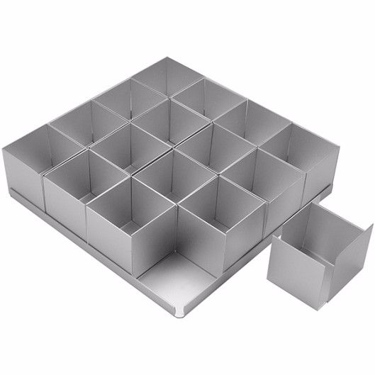 Mini SQUARE Cake Tin Set x 16 (2