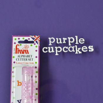 Tappits: FMM Cupcake Alphabet  Lower Case 10mm