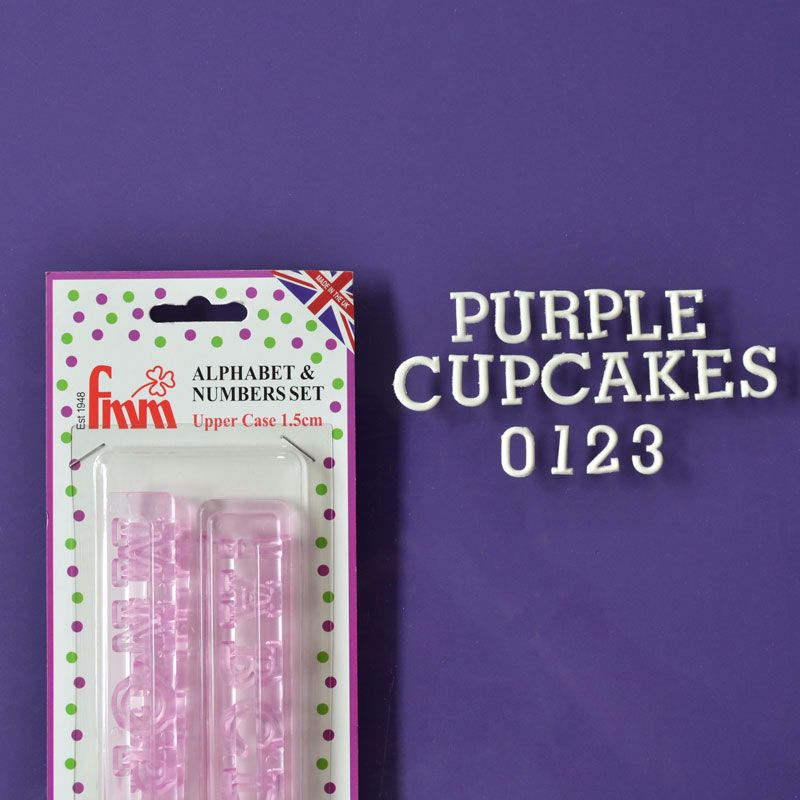 Tappits: FMM Cupcake Alphabet  Upper Case and Numbers 15mm