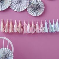 Tassel Garland - Iridescent Pastel Party