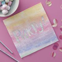 Rainbow Iridescent Paper Napkins