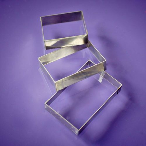 Plaque cutters - rectangles set of 3