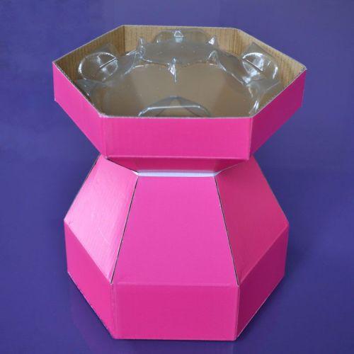 Cupcake Bouquet Box - Cerise Pink