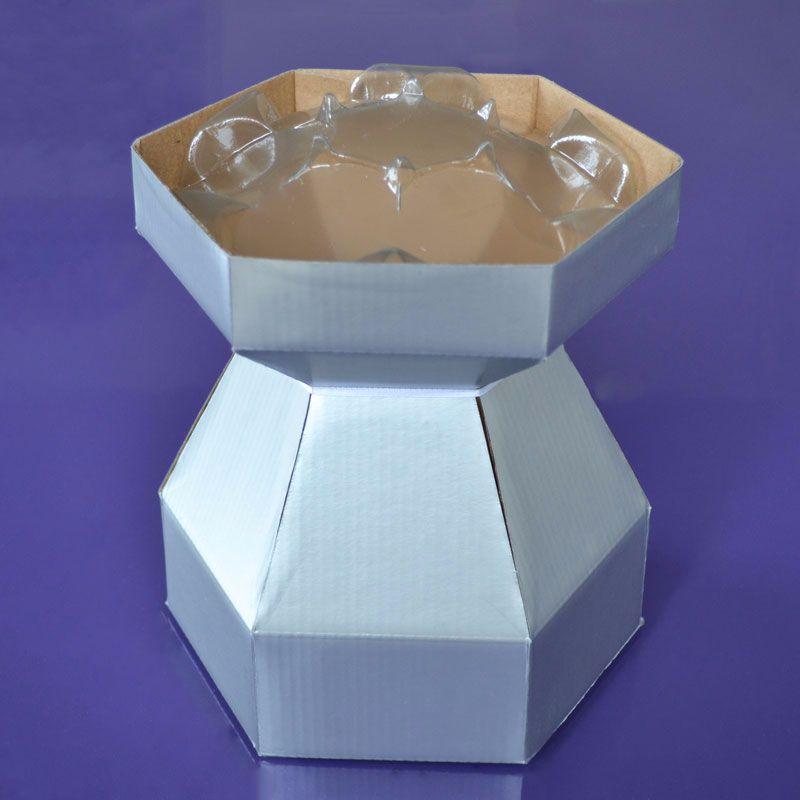Cupcake Bouquet Box - Silver