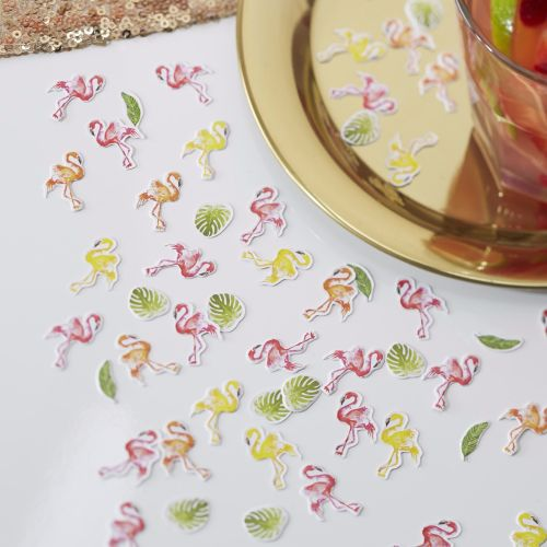 Flamingo Table Confetti