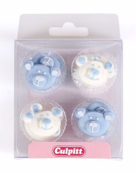 Blue Baby Bear Sugar Pipings