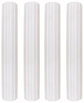 "6"" Plastic Hollow Pillars Pk/4"