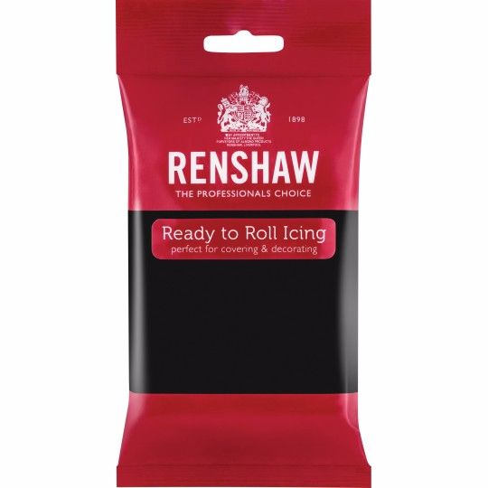 Renshaw Ready To Roll Icing - Jet Black