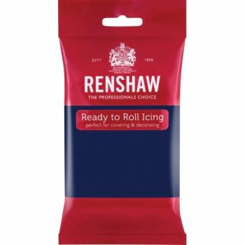 Renshaw Ready To Roll Icing - Navy Blue