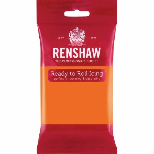 Renshaw Ready To Roll Icing - Tiger Orange