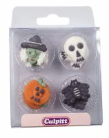 Assorted Halloween Sugar Pipings - Pack of 12