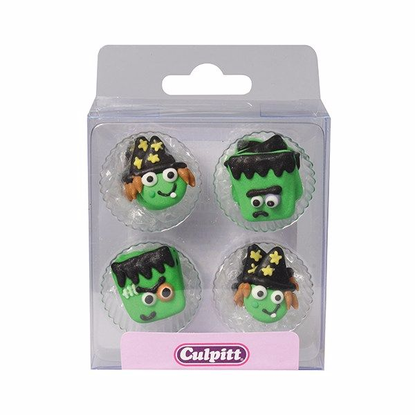 Monster & Witch Halloween Sugar Pipings - Pack of 12