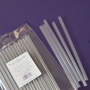 Clear Hollow Dowel Straws Pack of 20