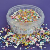 Purple Cupcakes Edibles Sprinkle Mix - Rainbow 100g