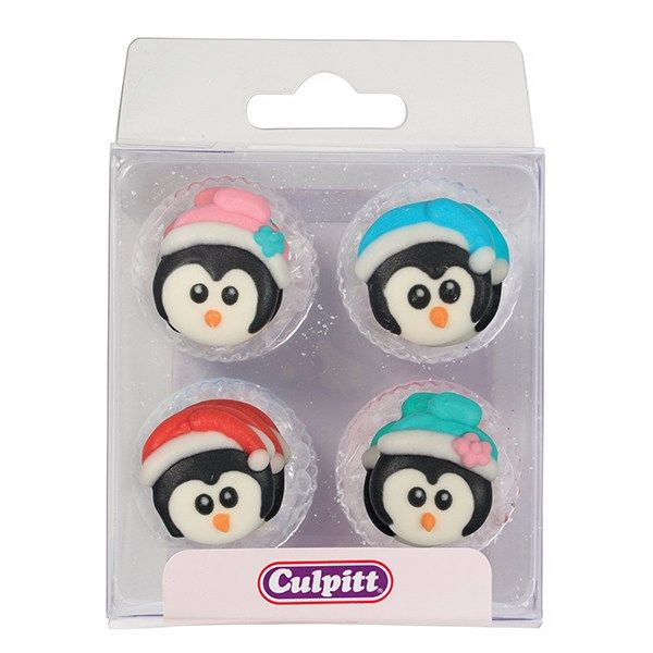 Christmas Sugar Penguin Pipings