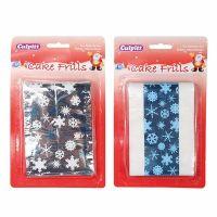 Metallic Snowflake Frills - Blue
