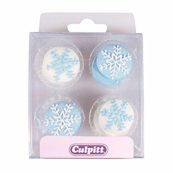12 Snowflake Sugar Pipings
