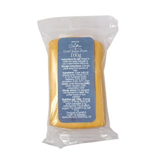 Metallic Gold Sugarpaste 100g