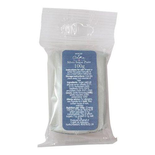 Metallic Silver Sugarpaste 100g
