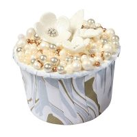 Baking Cups - Marble Silver & Gold